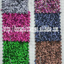 PU Glitter leather material for shoes