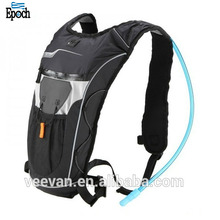 Fashion black unisex light weight polyester PU running cycling hiking 2L hydro pack
