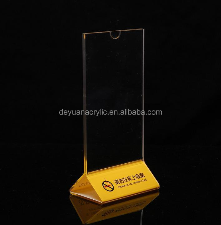 Transparent Acrylic Triangle Tag Display/Best Price Display Stand/ Price Display Board