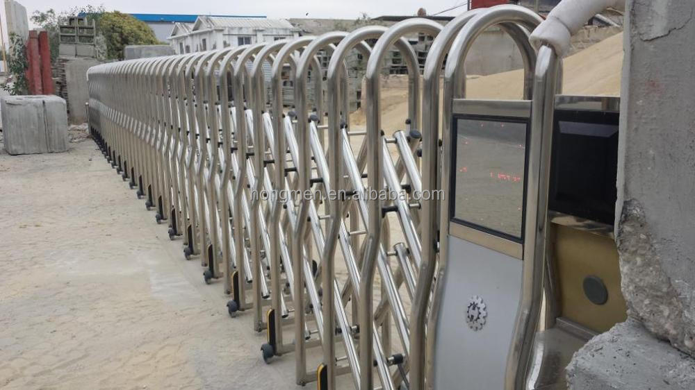 Stainless Steel Electric Retractable Gate , SS304 Automatic Folding Gate
