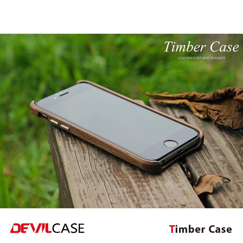 [DEVILCASE] Elegant Handcraft Real Timber Wooden Auto Mobile Phone Device Cover for iPhone 6+ 6s+ Smart Hand Phone