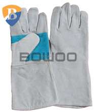 Wholesale factory cheap cowhide leather welding anti heat work glove