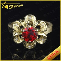 aaa cz stone 18k gold plated 925 silver china cz rings