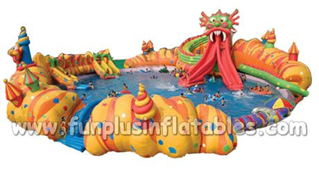 inflatable water park with swimming pool/inflatable floating water park/water park for sale F9005
