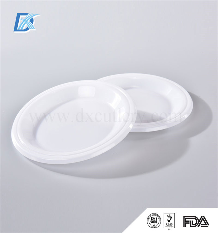 Factory High Quality White PP Restaurant disposable Plastic Dinner Oval Plate with Lid