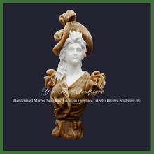 Carved Lady Marble Custom Bust Statue