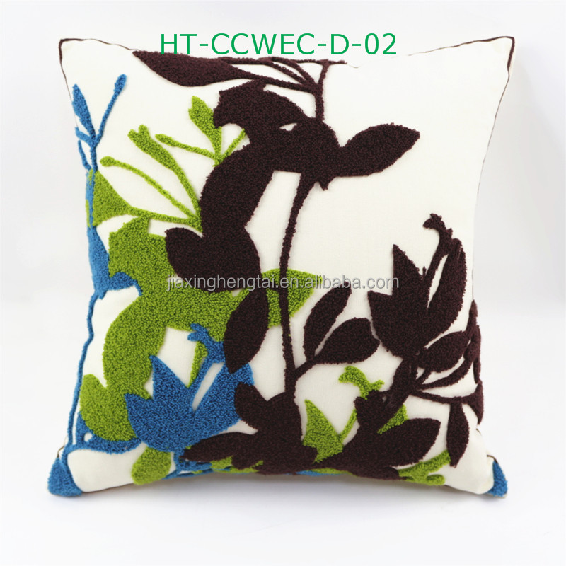 Latest Design New Style Embroidery Design,Decorative Sofa Retro Cotton Cushion Cover ,Wholesale Elengant Throw Pillow Case