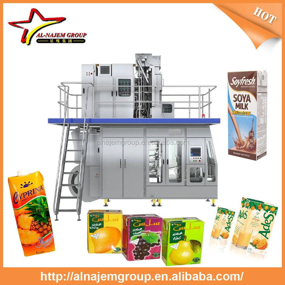 Best sale aseptic brick carton filling machine aseptic packing machine