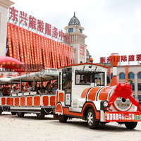 diesel powerd Tourist Trackless Electric Train for Amusement Park