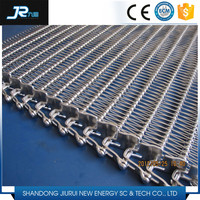 2015 China high quality stainless steel chain link wire mesh spiral grid conveyor belt