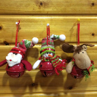 new arrival santa snowman deer ride on red jingle bell for christmas tree decoration