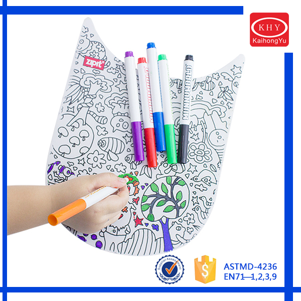 KH9834 Mini Colored Kids Doodling Garments Permanent Fabric Marker Pens