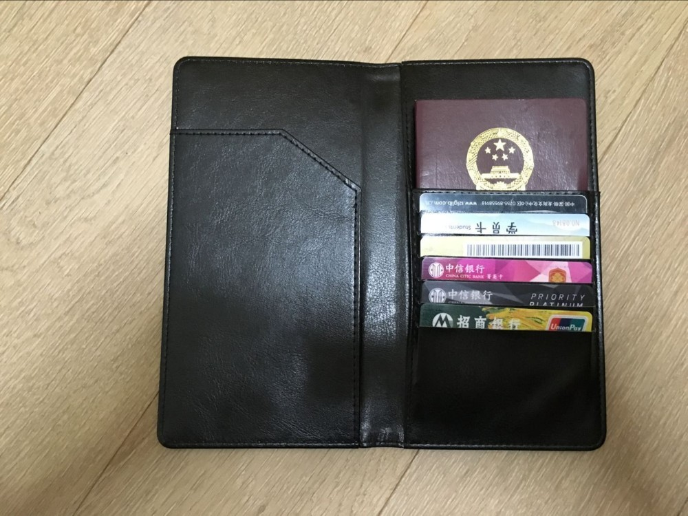 Genuine Leather Human Wallet Rfid Blocking Sleeve Passport