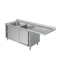 Stainless Steel Laundry Sink cabinet, New Double Bowl 304 Stainless Steel Laundry Sink with cabinet