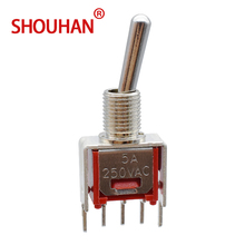 Toggle switch ST-0-102-<strong>A02</strong>-T002-RS 5A 250V ON-(NONE)-ON momentary switch