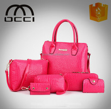 winter style 6pcs set bag for ladies handbags wholesale china leather handbags YX1127