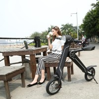 Battery Powered electric Folding three wheeler motorcycle from Lehe