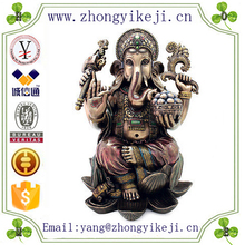 2015 chinese factory custom made handmade carved hot new product polyresin indian gift items of Hindu Elephant God