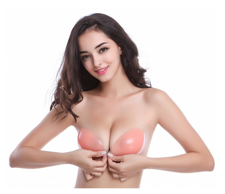 Strapless Wireless Good Shape Washable Soft Comfortable Hot Transparent Silicone Bra Invisible Suppliers