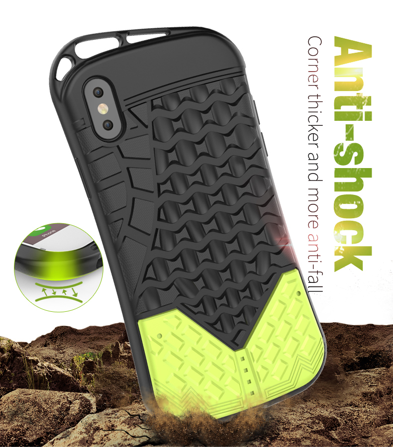 New Arrival Sports Convenient Carry tpu pc armor shock proof hard case for iphone x