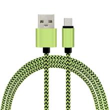 nylon braided double sided micro usb data cable for samsung