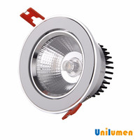 Pure aluminum 9w COB led downlight,waterfroof led down light