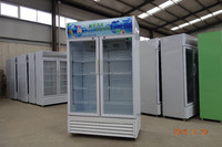 Commercial display cooler double door beverage coolers