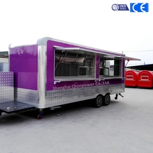 CP-D680210260 6 big wheels mobile freezer refrigerated truck food booth sale Dubai