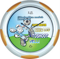 Talking Projector Clock Kick Off Football Wall Clock