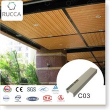 2016 Wood Plastic Cpmposite pvc ceiling panel decoration 40*25mm fire-resistant design house Foshan Guangdong China Supplier