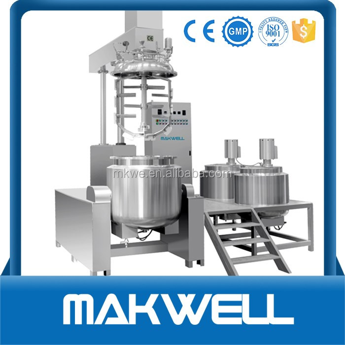 automatic vacuum ointment emulsifier mixer/facial cream making machine
