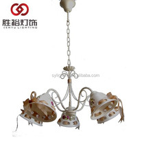 (promotional item 38USD/PCS) ceramic modern russian chandelier light