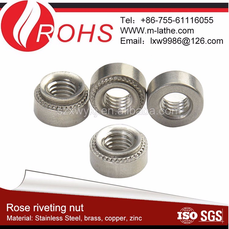 M12 stainless steel self clinching nut for metal plate