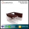 U shaped executive wooden office table with back credenza