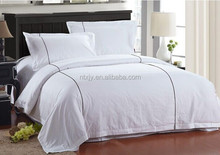 Hotel Unique Cotton Satin Bed Sheet Fitted Sheet Flat Sheet with PVC bag