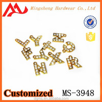2015 wholesale rhinestone alphabet letter pendants