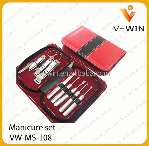 disposable Red 10pcs Gift high quality Pedicure Manicure Set Manicure Kit