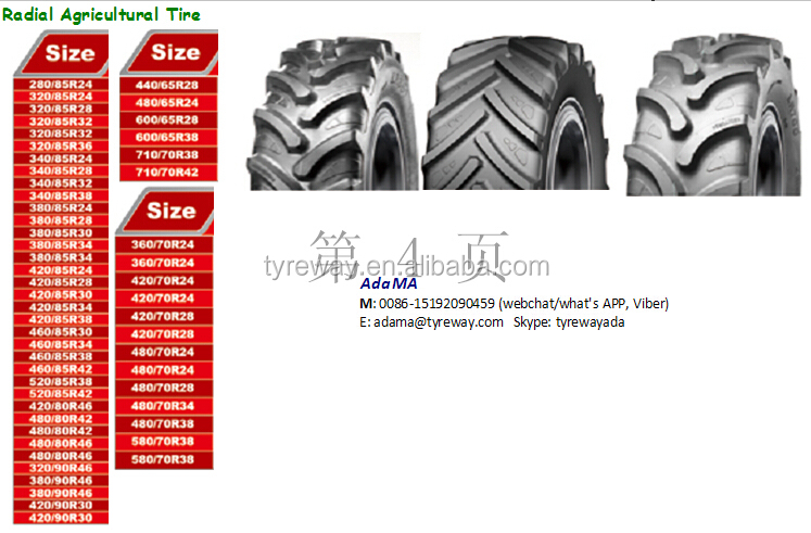 Radial agricultural tire 460/85R38, 420/85R28,340/85R28