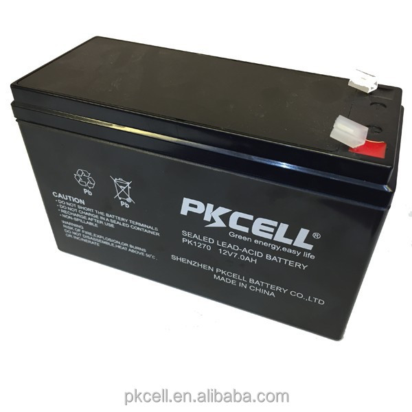 High rate maintenance free battery 12v 7ah vrla/ sla ups solar gel battery