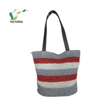fashionable factory direct sale lady nature paper straw bags handbags