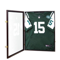 High Quality wall mounted 3d glass clear wooden DIY frame display shadow box acrylic baseball jersey display frame