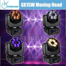 6X15W Low-cost 4-in-1 LED Moving Head