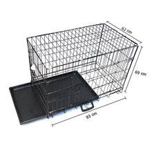 Collapsable double door breeding cages for dogs