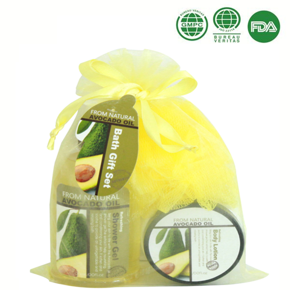Organza bag mesh sponge body lotion qualified by msds,fda,gmpc,iso