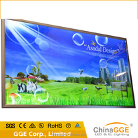 Aluminum profile LED frame outdoor flex backlit banner fabric light box
