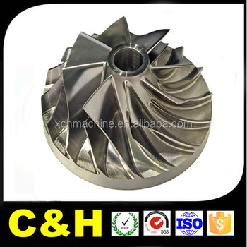 customized precision high quality cnc machining impeller