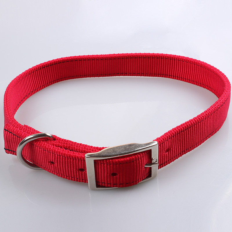 2020 High Standard Cheap Price Solid Color Nylon Dog Collar Easy To Wear Stocked