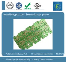 Top rigid circuit board manufacturing, green solder mask color low cost pcb board in Shenzhen