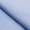 Hot sale Luthai 70s*70s 200*100 ready stock classical 100% cotton blue and white stripe shirt fabric