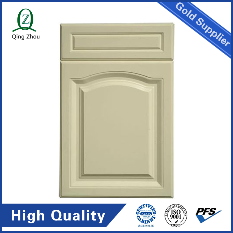 Top1 45 Degree Raised Modern Drawing Teak Solid Wooden Kitchen Cabinet Door